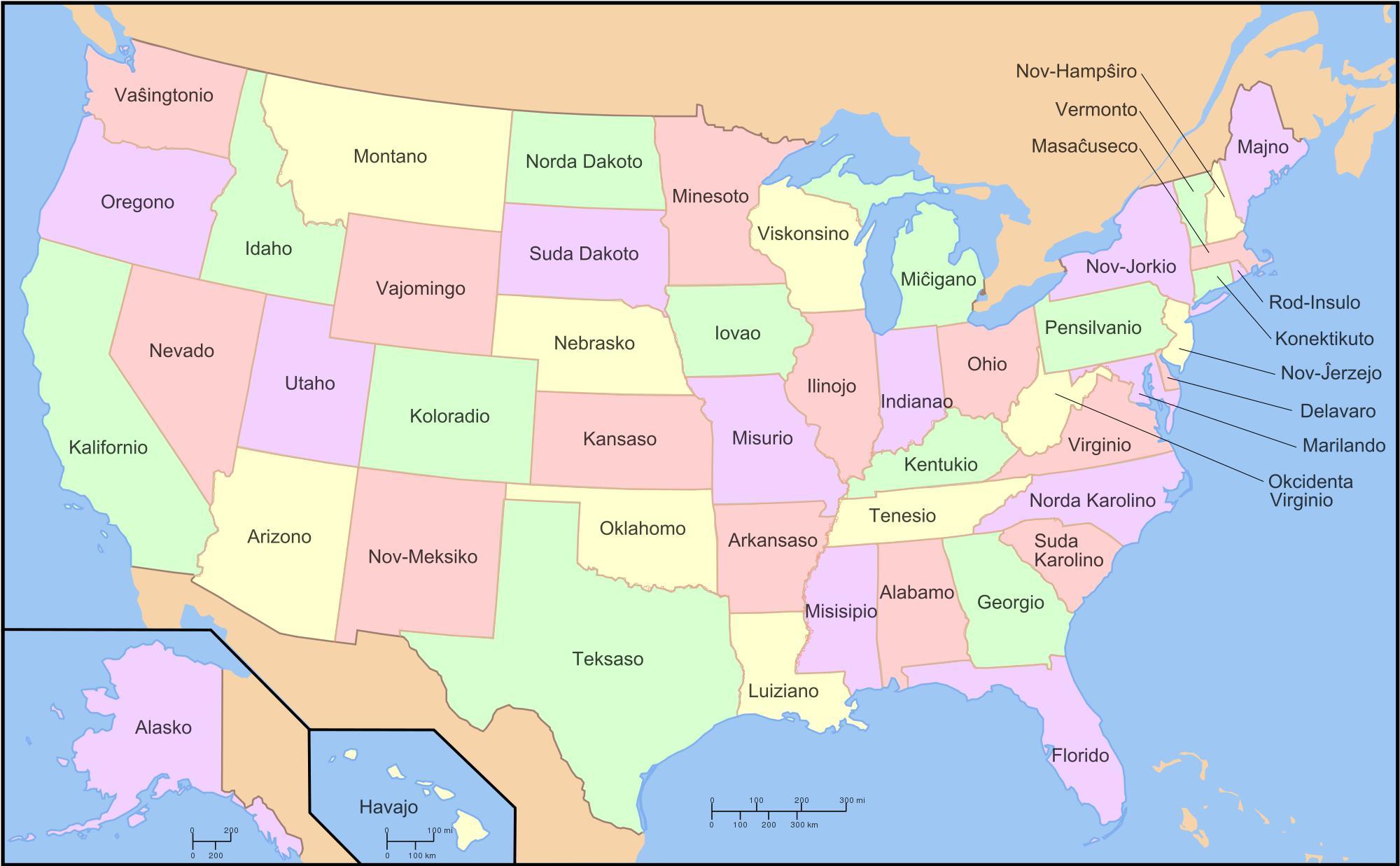 kart over statene Jeg trenger et kart over Usa   jeg trenger å se et kart over Usa  kart over statene