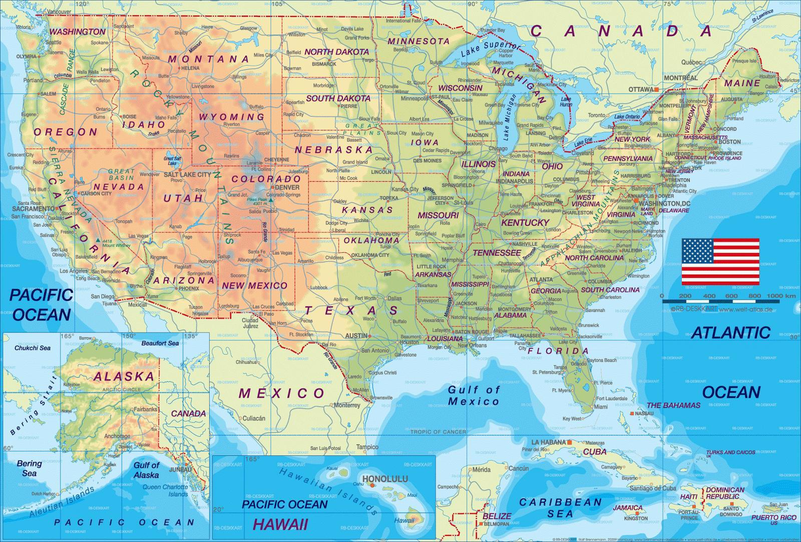 kart usa byer Kart over AMERIKANSKE byer   OSS kart over byer (Nord Amerika  kart usa byer