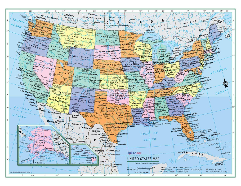 stort kart Store, USA kart Stort kart, USA (Nord Amerika   Amerika) stort kart